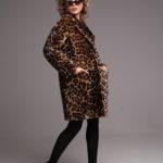 Дубленка из овчины с леопардовым принтом 4