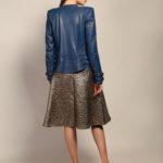 Кожаная куртка небесно-синего цвета 3
