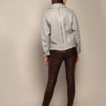 Кожаная куртка с воротником-стойкой 4