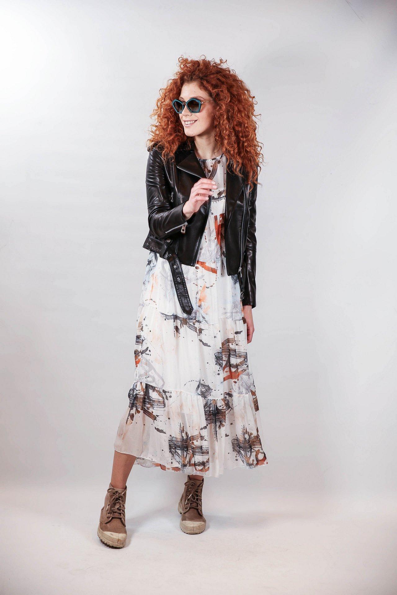 Черная куртка-косуха с поясом 1