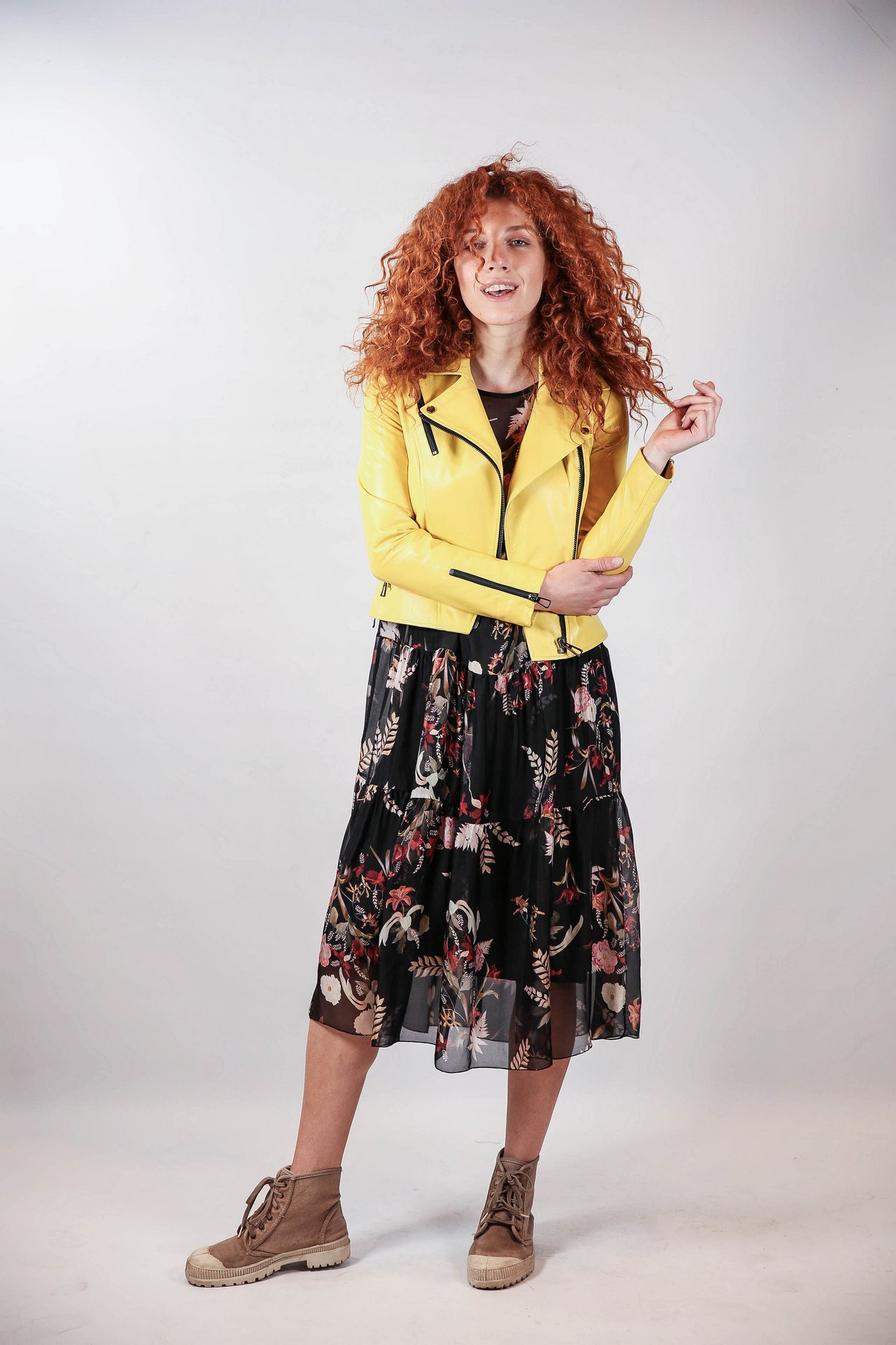 Куртка-косуха желтого цвета 1