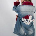 Джинсовая куртка с меховым декором 4