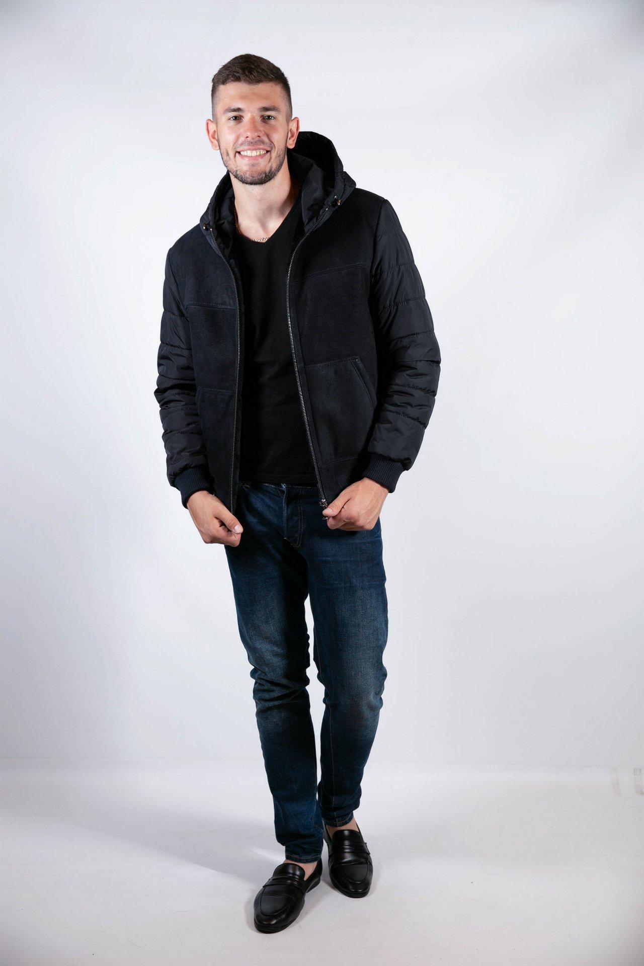 Комбинированная куртка в спортивном стиле 1