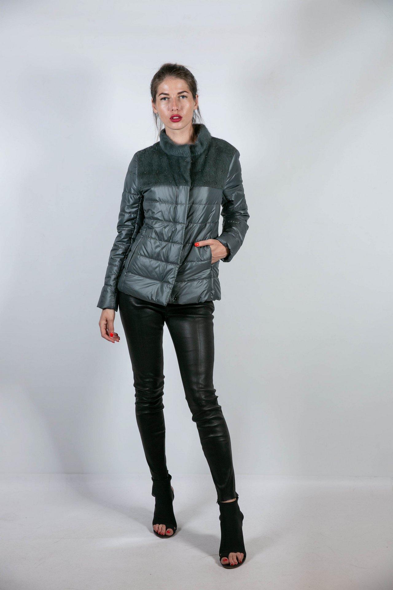 Облегченная комбинированная куртка 1