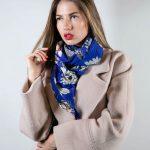 Нежный шелковый шарф с цветочным орнаментом 3