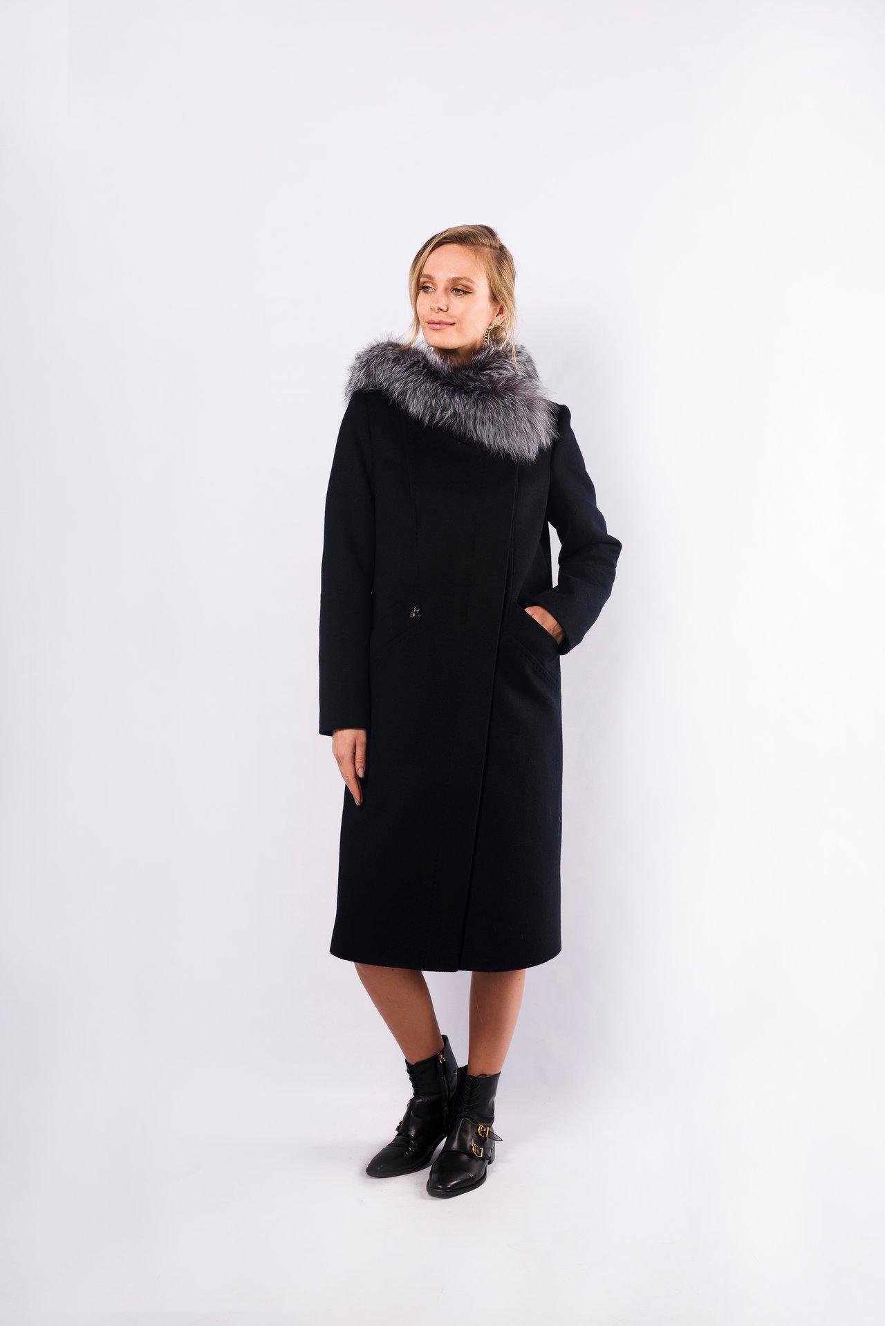 Классическое шерстяное пальто с капюшоном 1