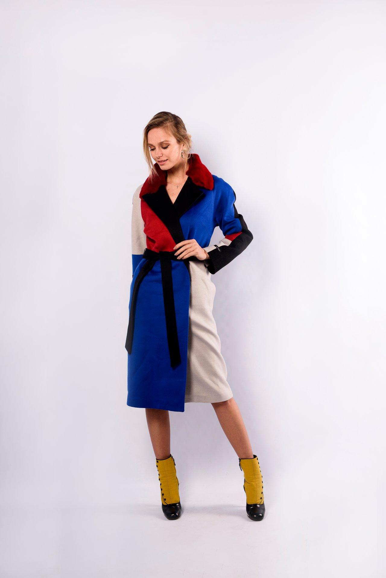 Пальто из шерсти с отложным воротником 1