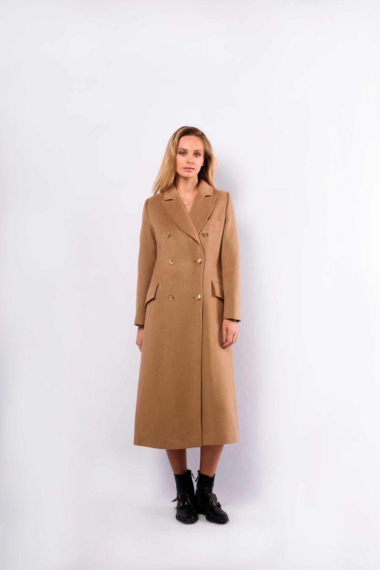 Пальто шерстяное длинное 1