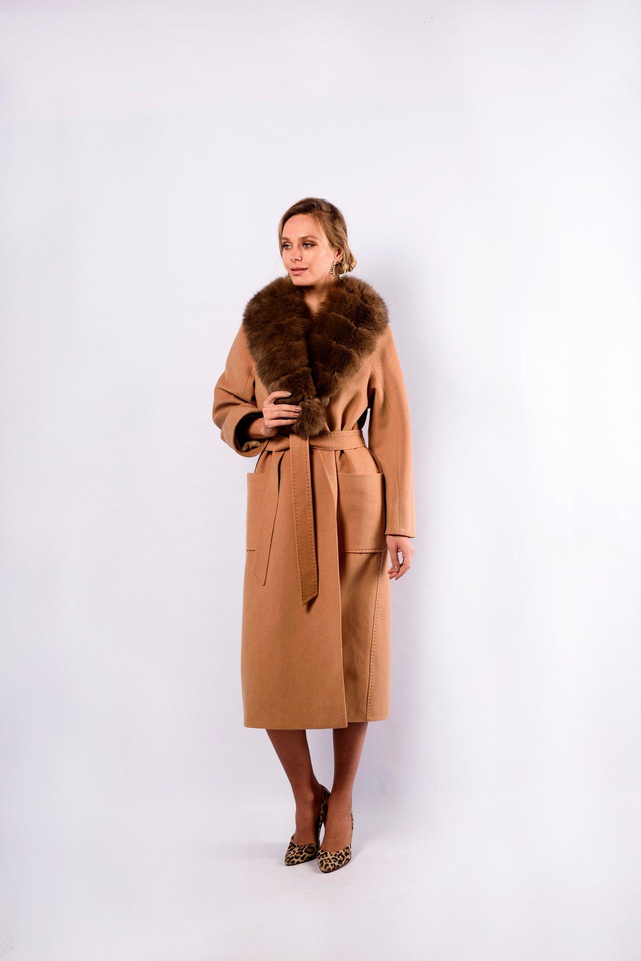 Длинное пальто однотонное 1
