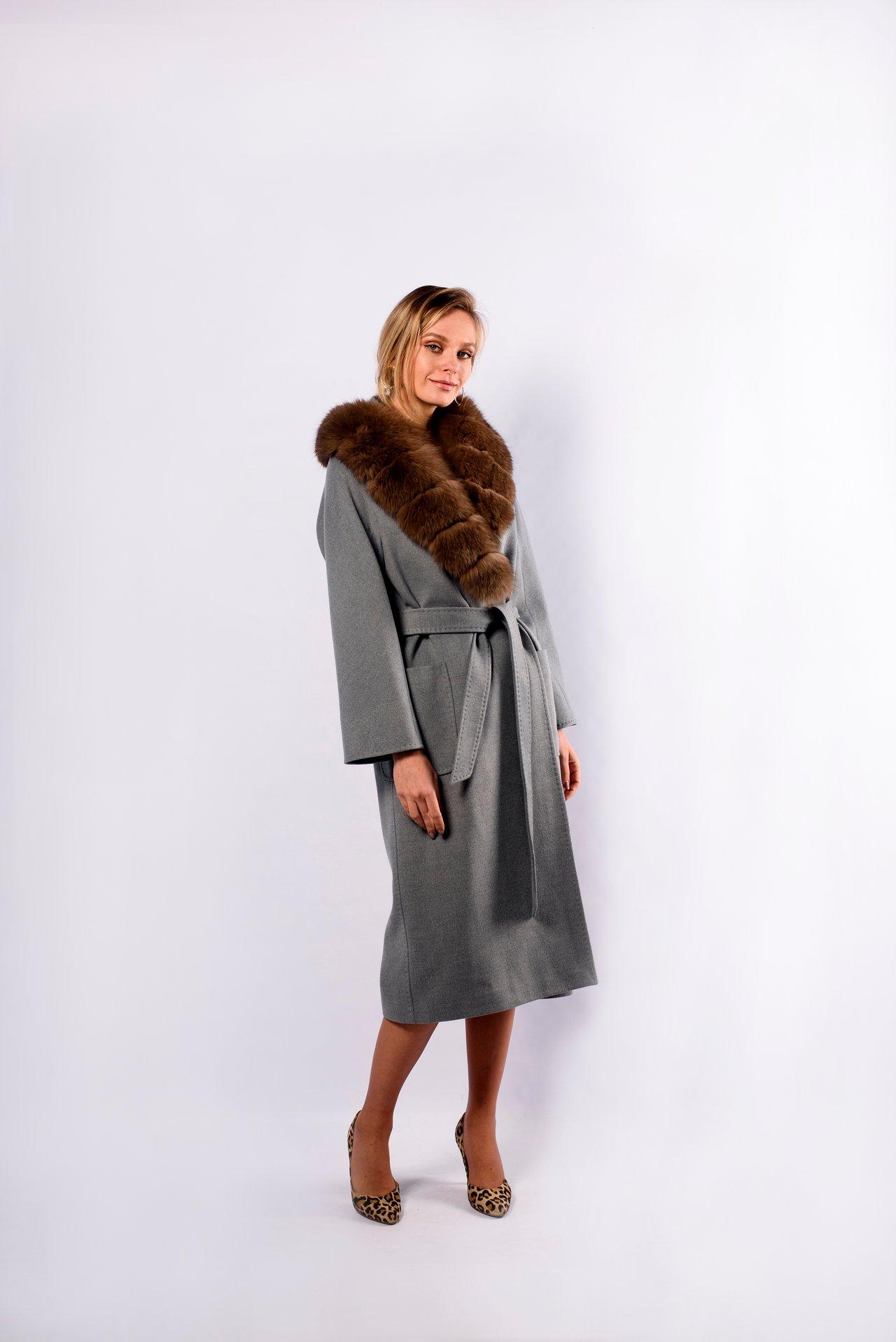 Пальто однотонное из шерсти 1