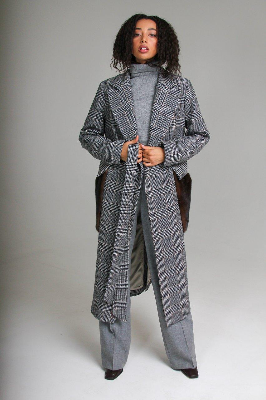 Удлиненное пальто из шерсти 1