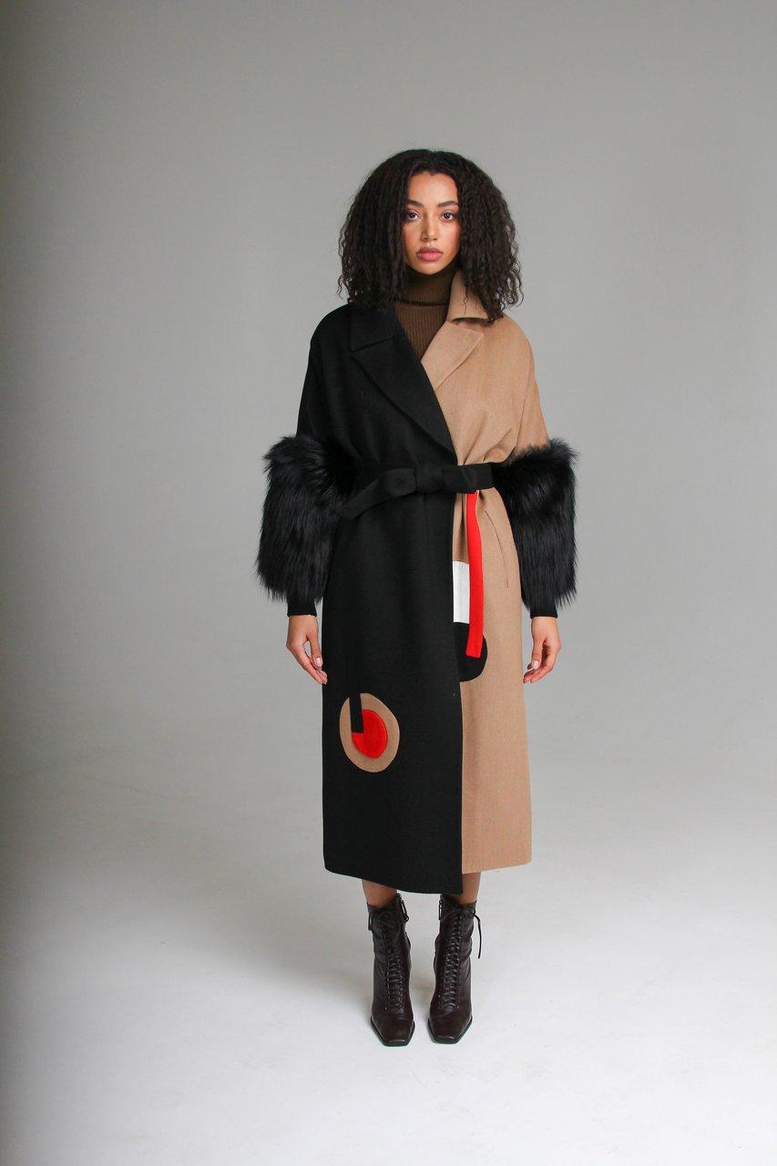 Женское удлиненное пальто из кашемира 1