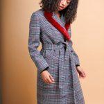 Кашемировое пальто с воротом из норки 3