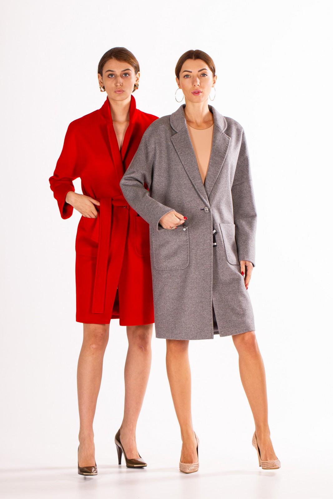Однобортное пальто 1