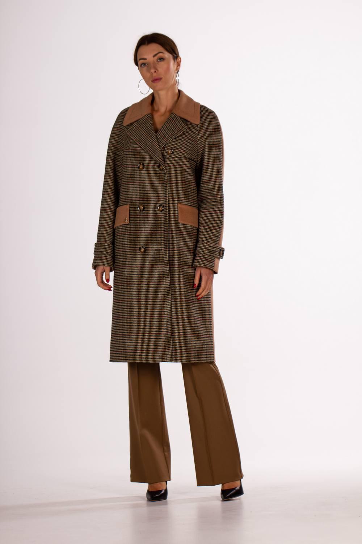 Двубортное классическое пальто 1