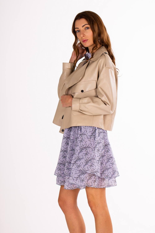 Кожаная куртка в стиле CELINE 1