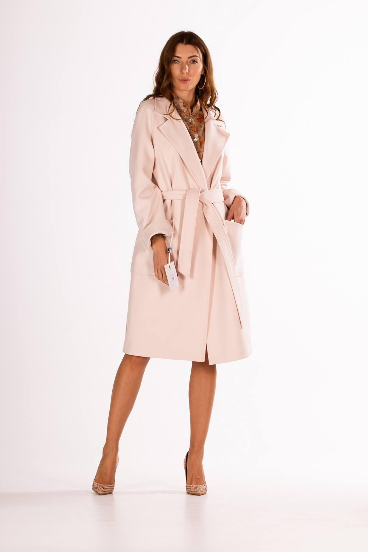 Классическое пальто под пояс 1