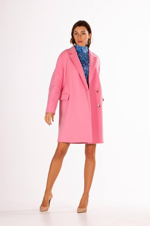 Модное прямое пальто на одной пуговице 1