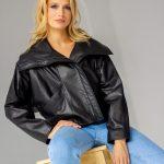 Супер стильная кожаная куртка оверсайз 2