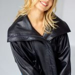 Супер стильная кожаная куртка оверсайз 4