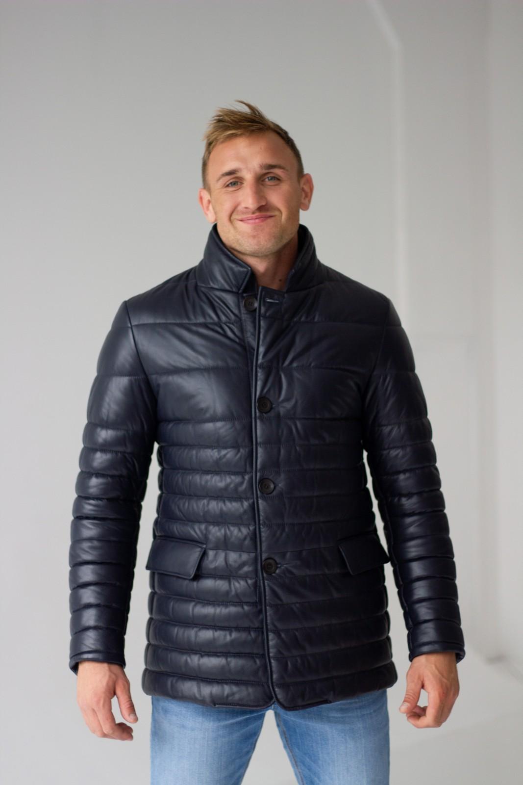 Кожаная стеганая куртка 1
