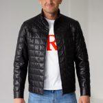 Универсальная стеганая кожаная куртка 2