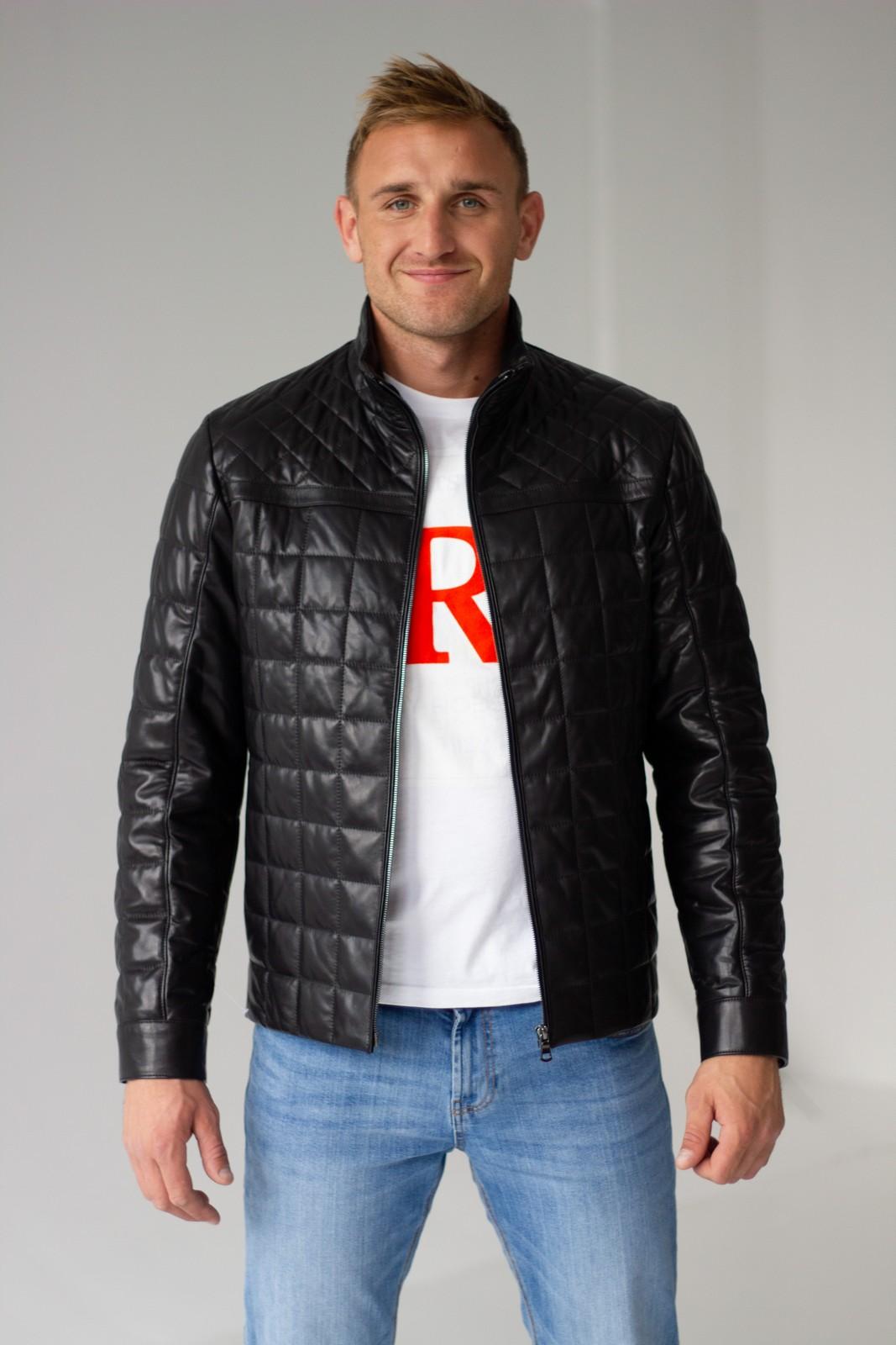Универсальная стеганая кожаная куртка 1