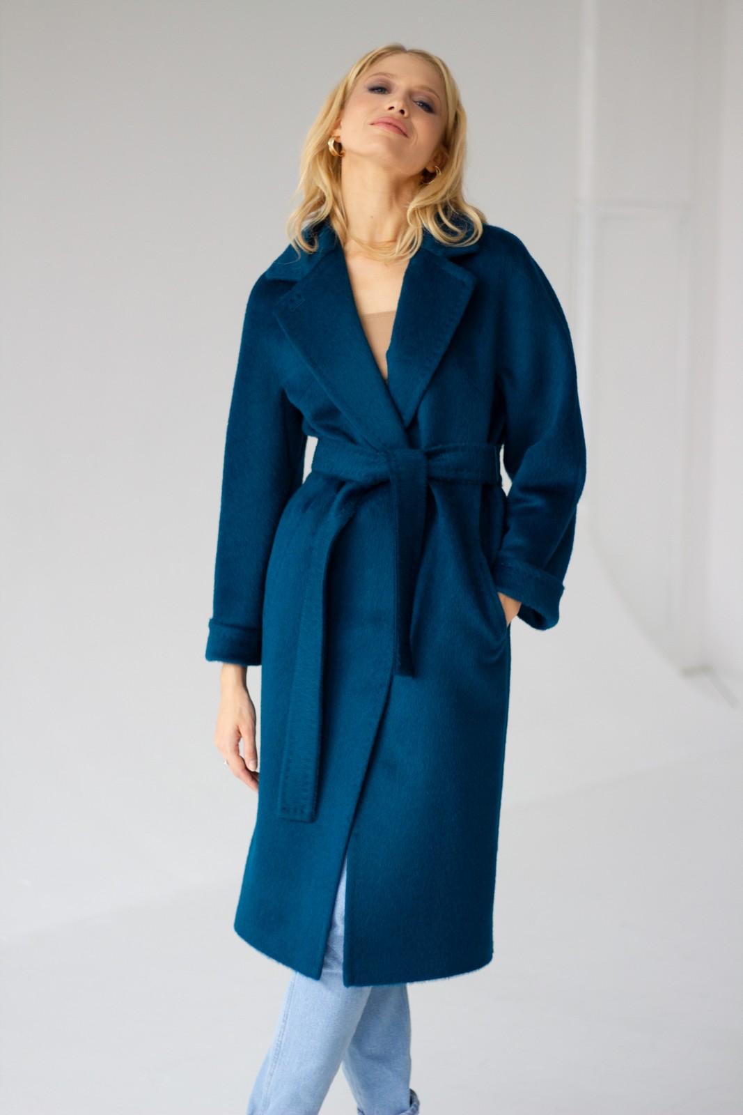 Пальто женское цвет морской пион 1