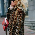 Дубленка с леопардовым принтом с воротником-стойкой 3