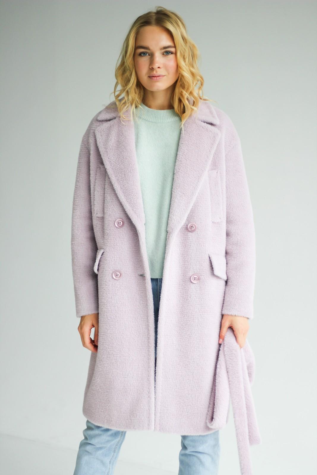 Демисезонное пальто из шерсти бэби-альпака 1