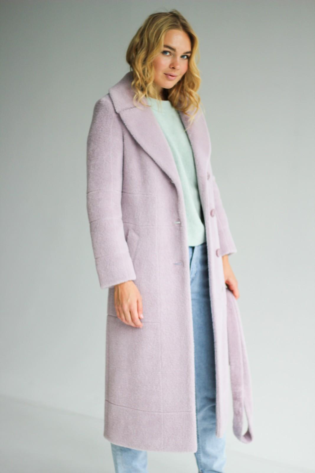 Демисезонное пальто из ворсовой шерсти 1