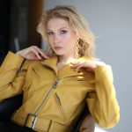Шикарная кожаная куртка - косуха в стиле 90-х 4