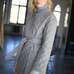 Куртка - жакет из натуральной кожи цвета дымка 2