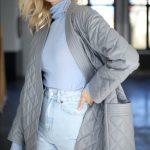Куртка - жакет из натуральной кожи цвета дымка 4