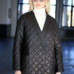 Куртка - жакет из натуральной кожи черного цвета 3