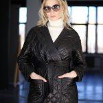 Куртка - жакет из натуральной кожи черного цвета 2