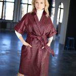 Платье - пальто из натуральной кожи под Кроко 2