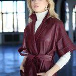 Платье - пальто из натуральной кожи под Кроко 3