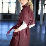Платье - пальто из натуральной кожи под Кроко 4