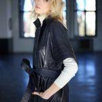 Платье - пальто из натуральной кожи 4