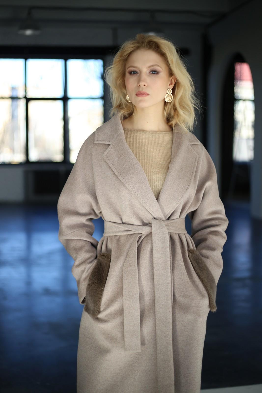 Классическое пальто из натуральной шерсти мериноса и кашемира 1