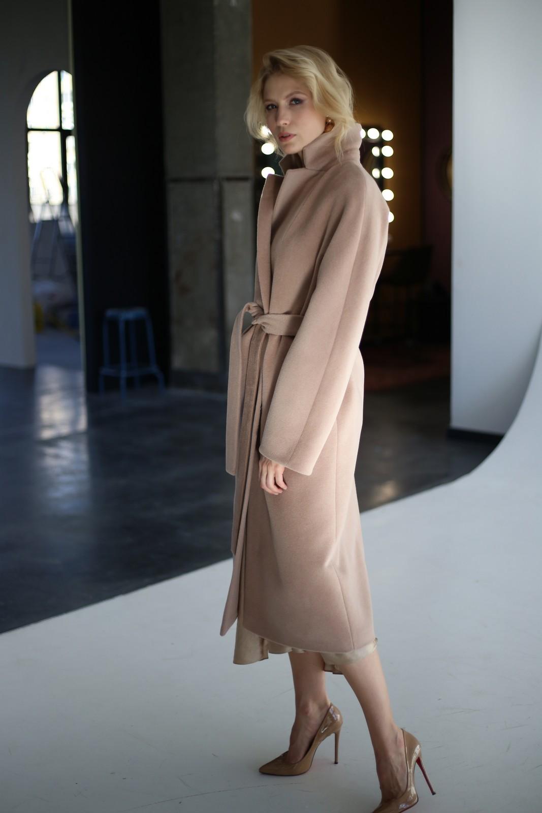 Классическое пальто из натуральной шерсти мериноса и альпаки 1