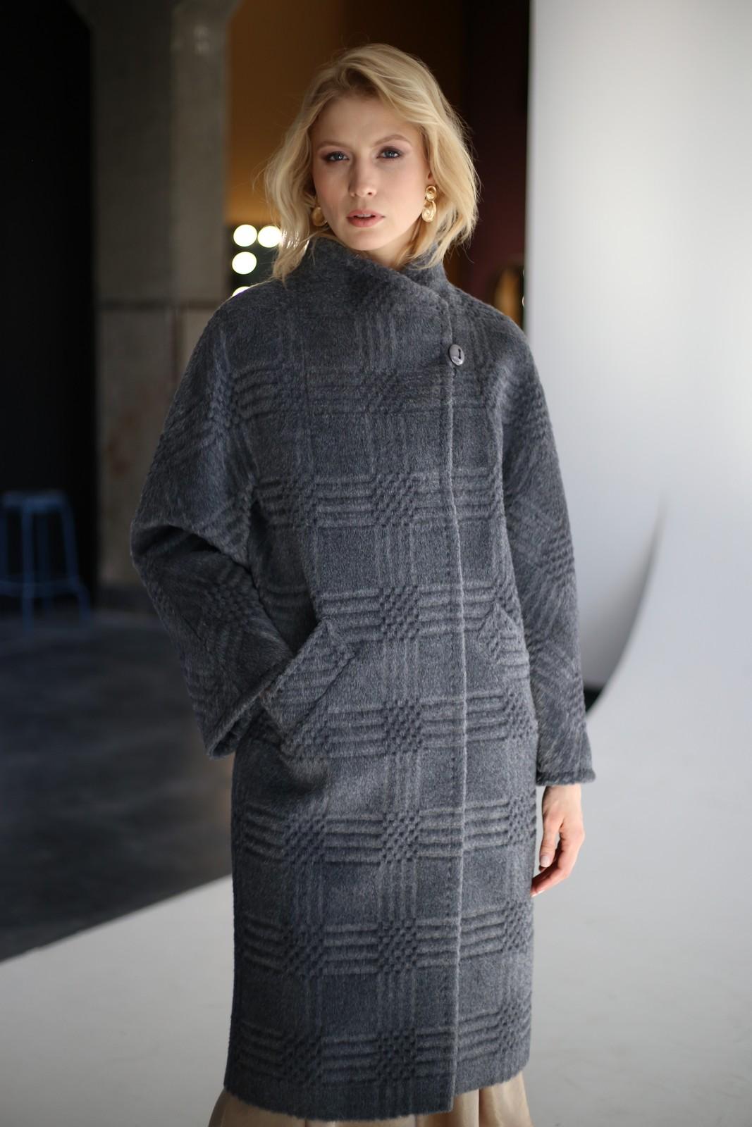 Пальто из натуральной шерсти альпаки и мериноса в цвете дымки 1