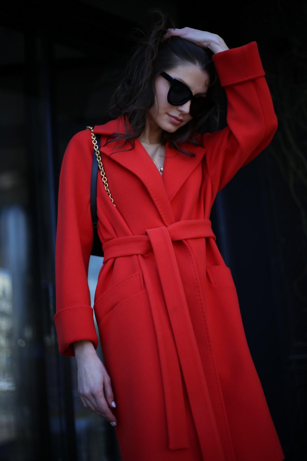 Пальто из шерсти и нейлона 1