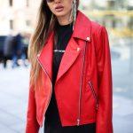 Кожаная куртка - косуха цвета спелой бруснички 4