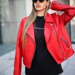 Кожаная куртка - косуха цвета спелой бруснички 2