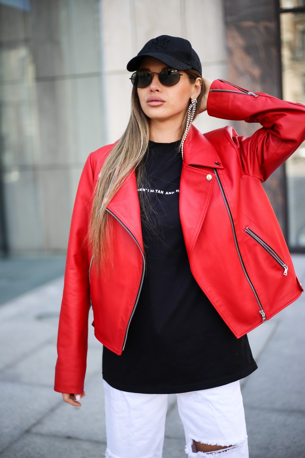 Кожаная куртка - косуха цвета спелой бруснички 1