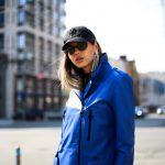 Кожаная куртка - косуха яркого насыщенного цвета синий электрик 3