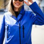 Кожаная куртка - косуха яркого насыщенного цвета синий электрик 2