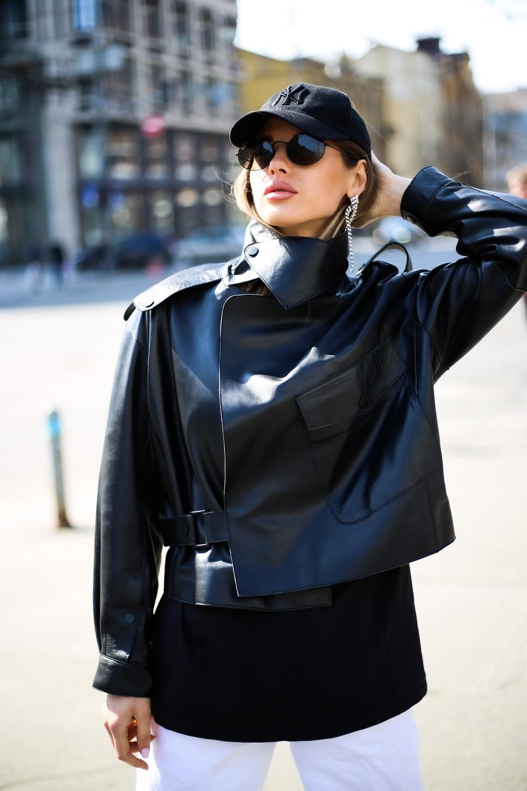 Кожаная куртка - косуха в стиле Celine 1